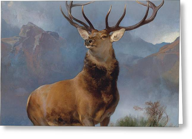 The Monarch Of The Glen Greeting Card by Sir Edwin Henry Landseer