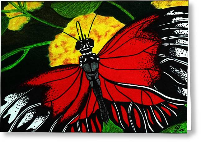 The Monarch Greeting Card by Ramneek Narang