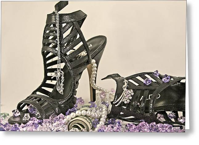 Open Toe Shoes Greeting Cards - The Money shoe Greeting Card by Jim Justinick