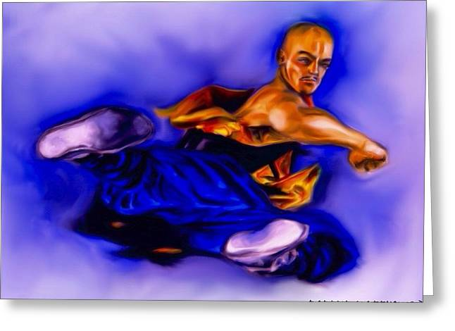 The Monk  Kick. Greeting Card