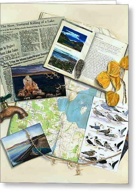 The Mono Lake Story Trompe L'oeil Greeting Card