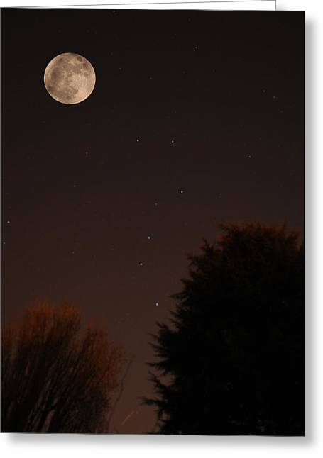 The Moon And Ursa Major Greeting Card