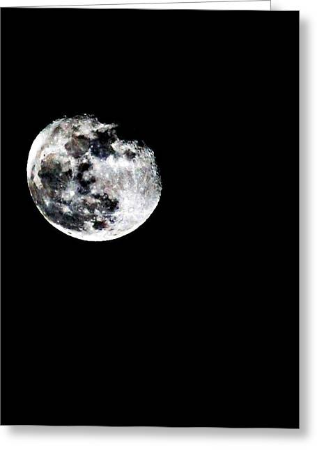 The Moon Greeting Card by Cherie Duran