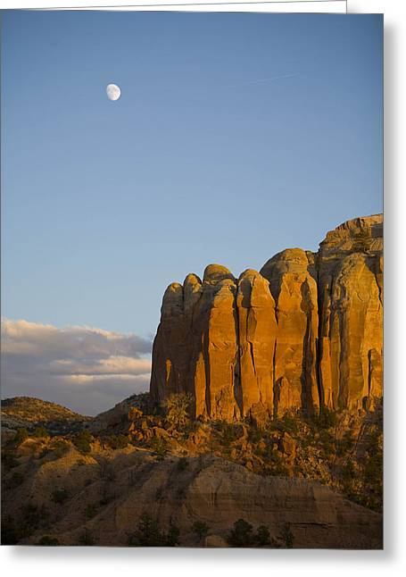 The Moon Is Seen During The Day Greeting Card by Ralph Lee Hopkins