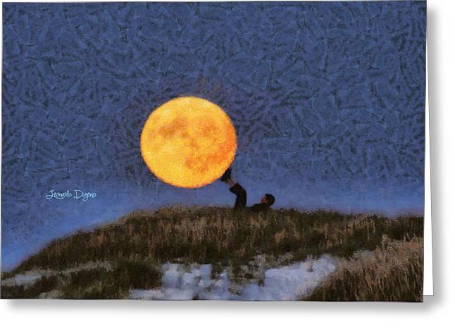 The Moon Keeper - 6 Of 7 - Da Greeting Card