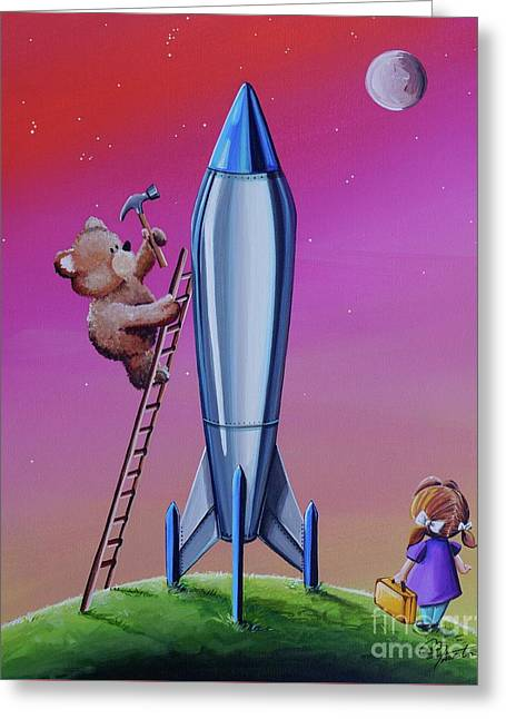 The Moon Mission Greeting Card