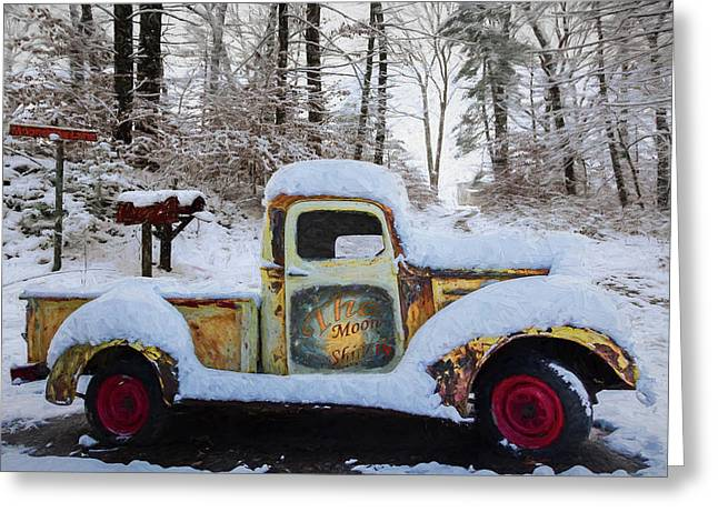 The Moonshiners Oil Painting Greeting Card