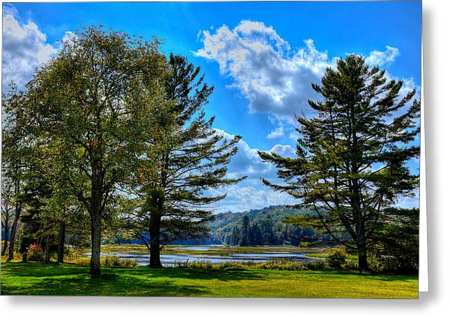 The Moose River In Thendara Greeting Card by David Patterson