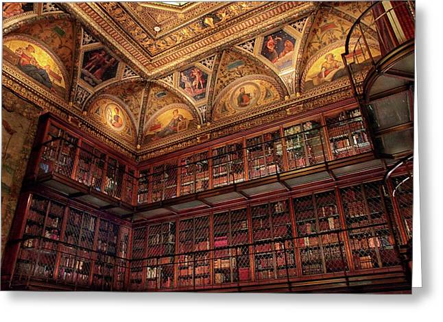 Greeting Card featuring the photograph The Morgan Library by Jessica Jenney