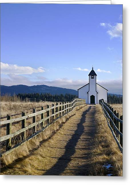 The Morley Church, Alberta, Canada Greeting Card by Philippe Widling