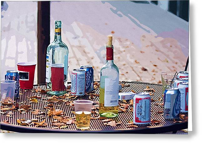 The Morning After The Party Greeting Card by Ginger Wakem