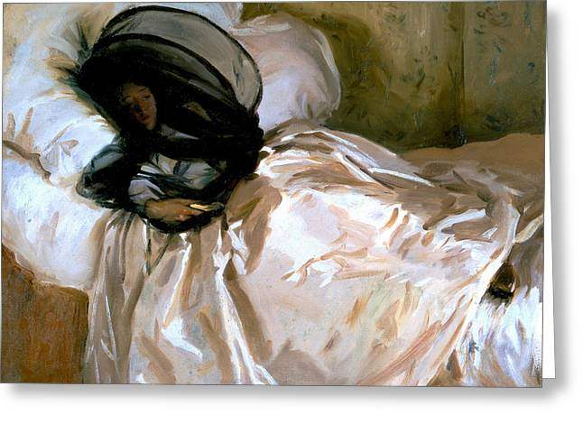 The Mosquito Net Greeting Card by John Singer Sargent