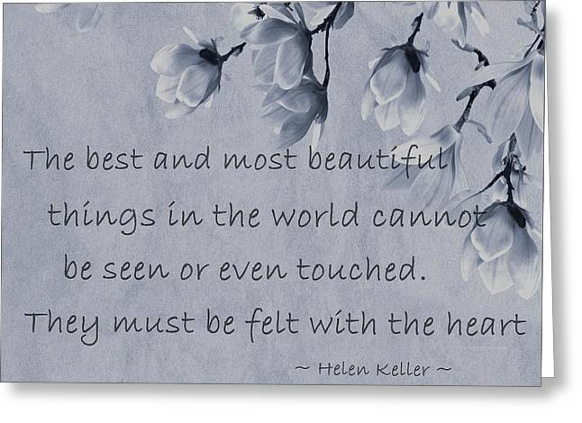 Greeting Card featuring the mixed media The Most Beautiful Things In The World by Movie Poster Prints