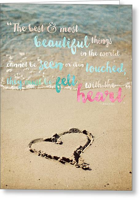 The Most Beautiful Things Greeting Card by Lisa Russo