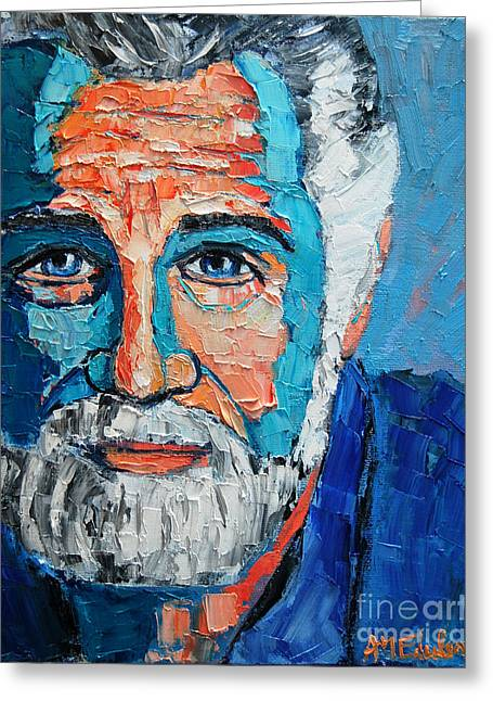 The Most Interesting Man In The World Greeting Card by Ana Maria Edulescu