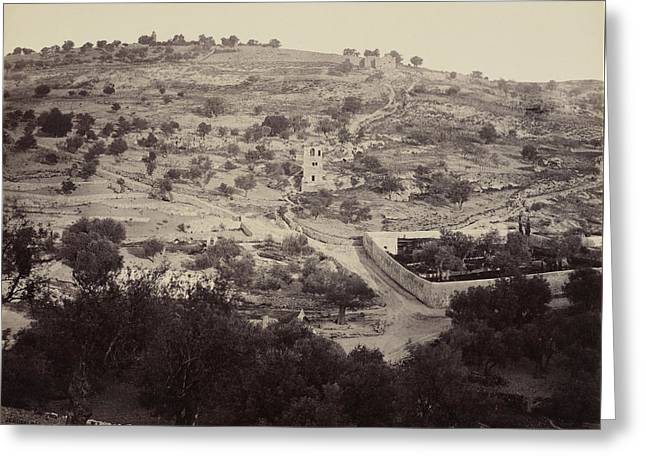 The Mount Of Olives And Garden Of Gethsemane Greeting Card