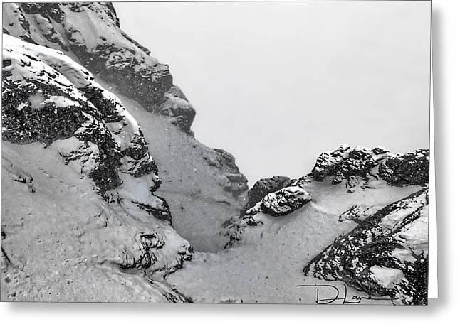 The Mountain Abyss Greeting Card