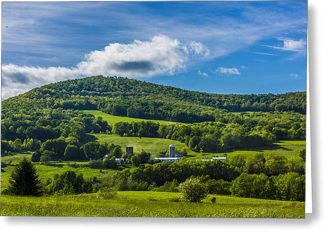 Greeting Card featuring the photograph The Mountain And Sky Landscape by Paula Porterfield-Izzo