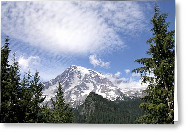 The Mountain  Mt Rainier  Washington Greeting Card by Michael Bessler