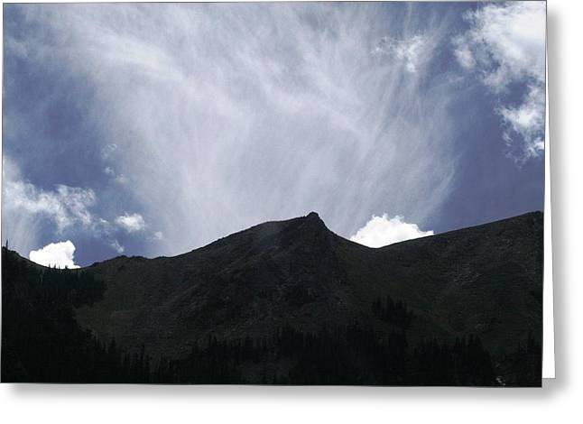 Greeting Card featuring the photograph The Mountain Range by Paul SEQUENCE Ferguson             sequence dot net