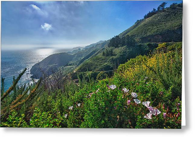 The Mountains Of Highway Nr. 1 - California Greeting Card by Andreas Freund