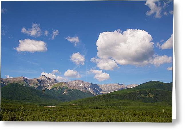 The Mountains  Greeting Card
