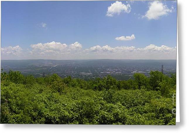 The Mountains Top View Panorama II Greeting Card by Daniel Henning