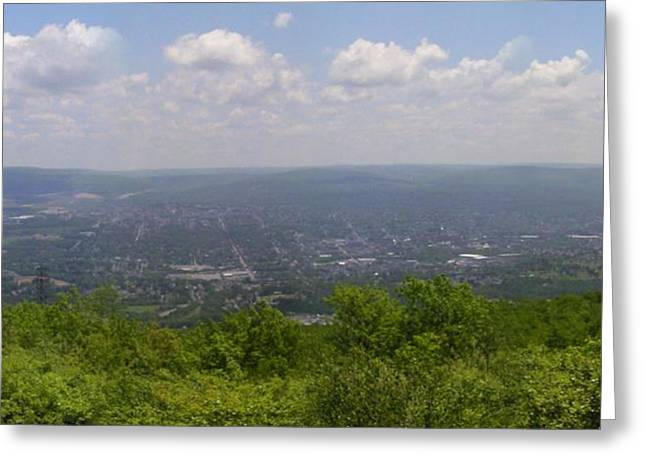 The Mountains Top View Panorama Xii Greeting Card by Daniel Henning