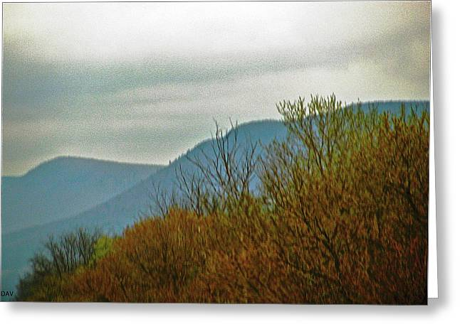The Mountains Waken  Greeting Card by Debra     Vatalaro