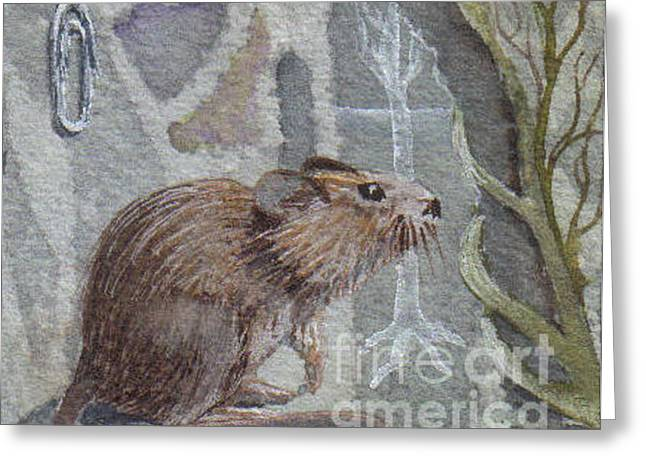 The Mouse Pad Greeting Card by Jackie Mueller-Jones