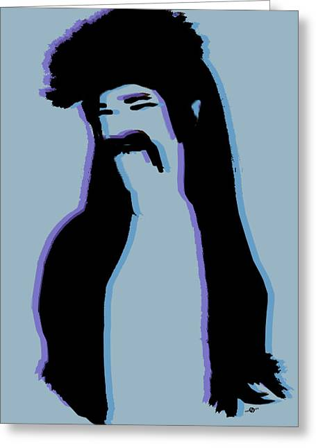 The Mullet Blue Greeting Card by Tony Rubino