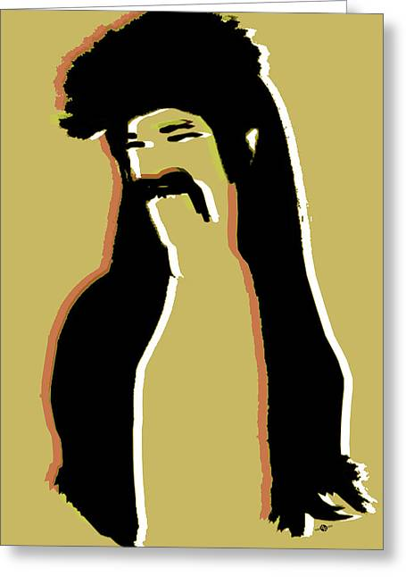 The Mullet Gold Greeting Card by Tony Rubino