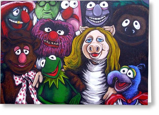 The Muppets Tribute Greeting Card by Sam Hane