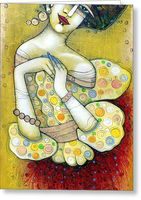 The Muse Of My 20's Greeting Card by Albena Vatcheva