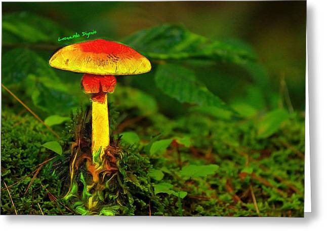 The Mushroom 16 - Da Greeting Card by Leonardo Digenio