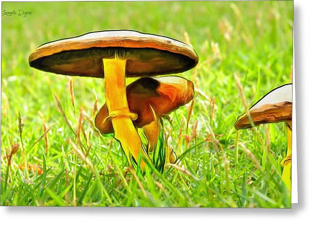 The Mushroom 2 - Da Greeting Card by Leonardo Digenio