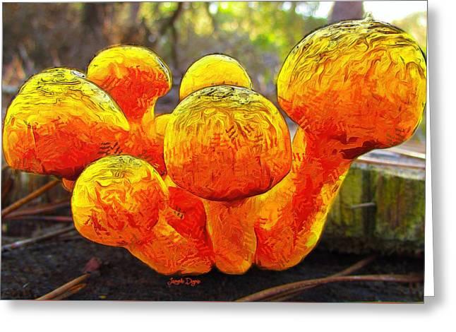 The Mushroom 9 - Pa Greeting Card by Leonardo Digenio