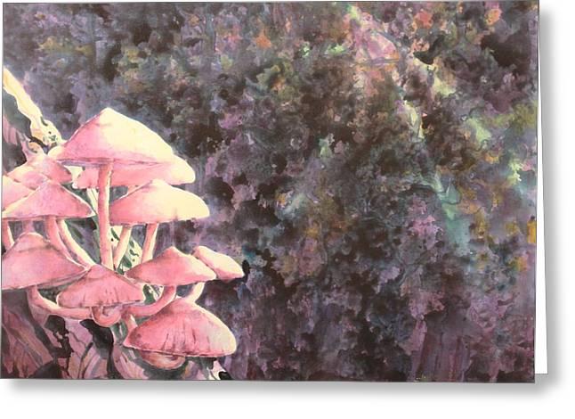 The Mushrooms Life Greeting Card by Saadon Bin Saad