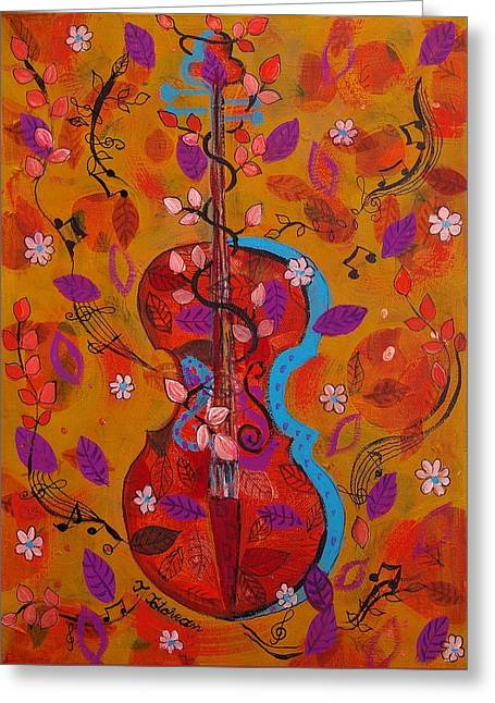 The Music Of Nature Greeting Card by Teodora Totorean