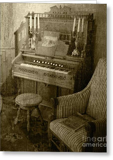 Greeting Card featuring the photograph The Music Parlor by Pete Hellmann