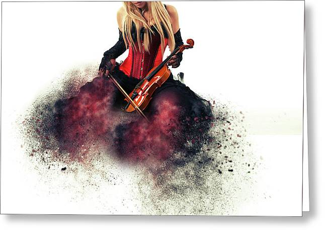 The Musician Greeting Card by Nichola Denny