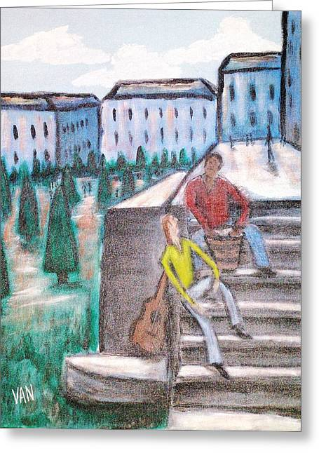 The Musicians Greeting Card