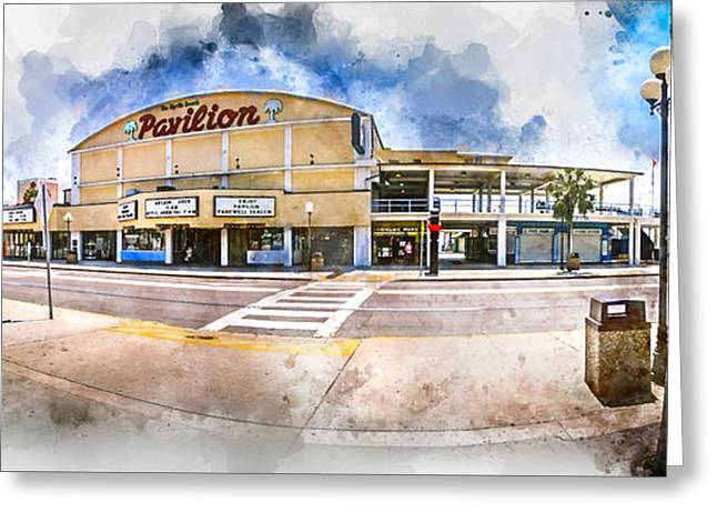 The Myrtle Beach Pavilion - Watercolor Greeting Card