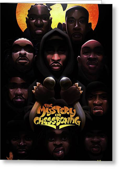 The Mystery Of Chessboxing Greeting Card by Nelson dedosGarcia