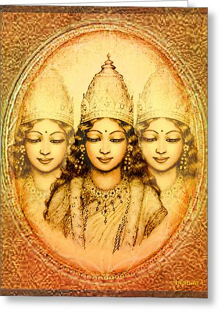 The Mystery Of The Goddess Greeting Card