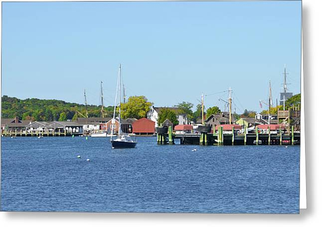 The Mystic Seaport Greeting Card by Bill Cannon