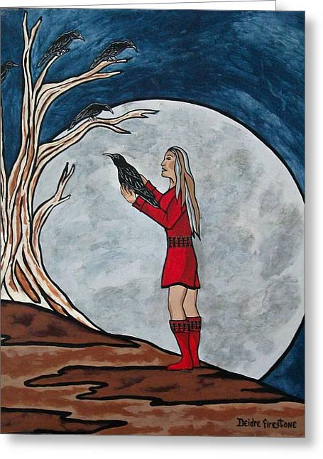 The Mystical Experience Greeting Card by Deidre Firestone