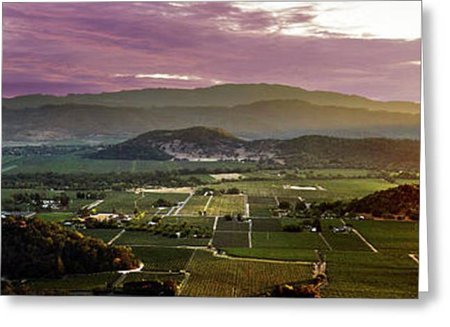The Napa Valley Floor Greeting Card by Jon Neidert
