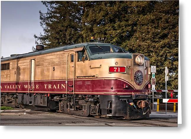 The Napa Valley Wine Train Greeting Card by Mountain Dreams