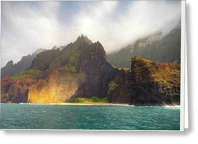 The Napali Coast Greeting Card by Peter Irwindale
